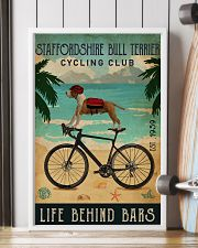 Cycling Club Staffordshire Bull Terrier 11x17 Poster lifestyle-poster-4