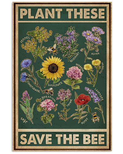 Retro Green Save The Bee
