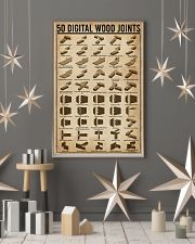 Digital Wood Joints Woodworking 11x17 Poster lifestyle-holiday-poster-1