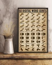Digital Wood Joints Woodworking 11x17 Poster lifestyle-poster-3