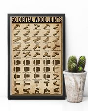 Digital Wood Joints Woodworking 11x17 Poster lifestyle-poster-8