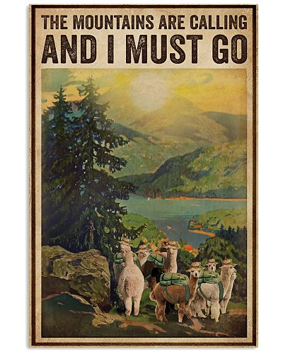 Vintage The Mountains Are Calling Alpaca