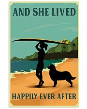 She Lived Happily Surfing Bernese Mountain Dog 11x17 Poster front