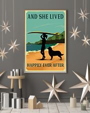 She Lived Happily Surfing Bernese Mountain Dog 11x17 Poster lifestyle-holiday-poster-1
