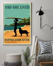 She Lived Happily Surfing Bernese Mountain Dog 11x17 Poster lifestyle-poster-1