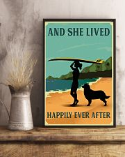 She Lived Happily Surfing Bernese Mountain Dog 11x17 Poster lifestyle-poster-3