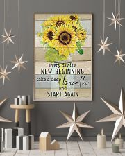 Sunflower Everyday Is A New Beginning 11x17 Poster lifestyle-holiday-poster-1