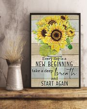 Sunflower Everyday Is A New Beginning 11x17 Poster lifestyle-poster-3