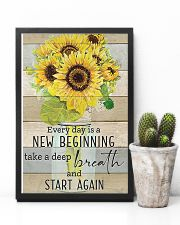 Sunflower Everyday Is A New Beginning 11x17 Poster lifestyle-poster-8