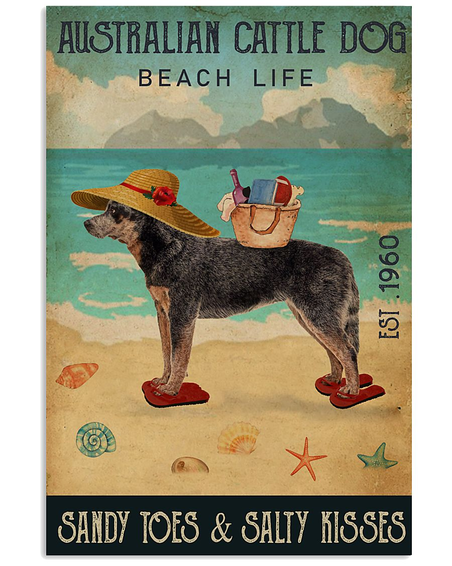 Beach Life Sandy Toes Australian Cattle Dog 11x17 Poster