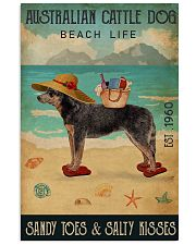 Beach Life Sandy Toes Australian Cattle Dog 11x17 Poster front