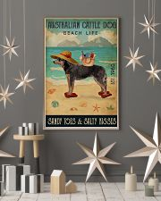 Beach Life Sandy Toes Australian Cattle Dog 11x17 Poster lifestyle-holiday-poster-1
