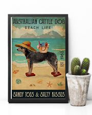 Beach Life Sandy Toes Australian Cattle Dog 11x17 Poster lifestyle-poster-8