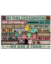 In This Classroom Owls Teacher 24x16 Poster front