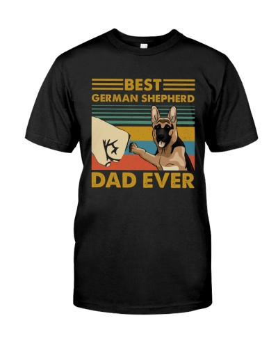Retro Blue Best German Shepherd Dad Ever