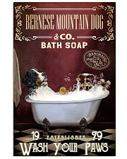 Red Supine Bath Soap Bernese Mountain Dog 11x17 Poster front