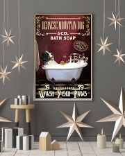 Red Supine Bath Soap Bernese Mountain Dog 11x17 Poster lifestyle-holiday-poster-1