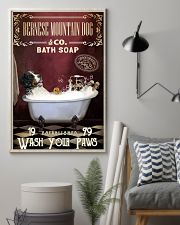 Red Supine Bath Soap Bernese Mountain Dog 11x17 Poster lifestyle-poster-1