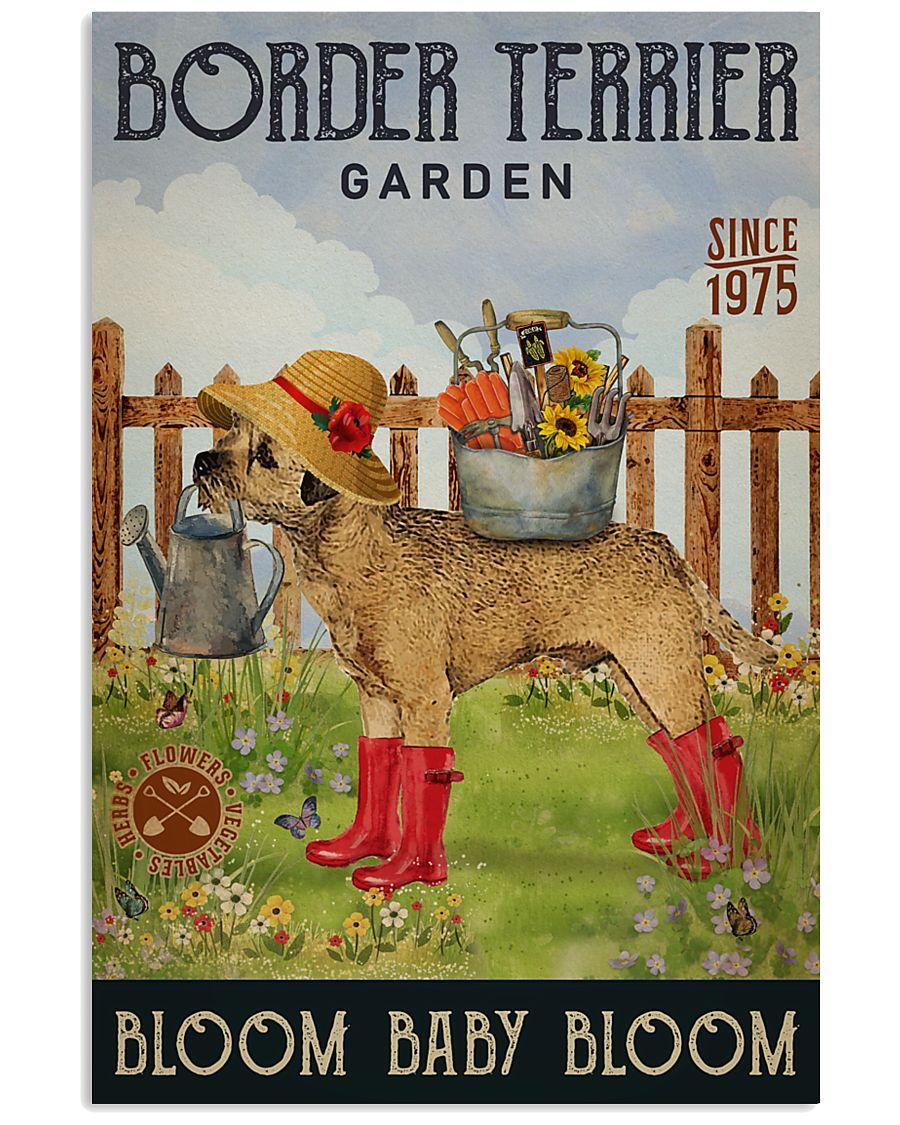 Gardening Bloom Baby Border Terrier 16x24 Poster