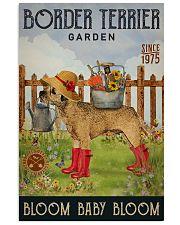 Gardening Bloom Baby Border Terrier 16x24 Poster front