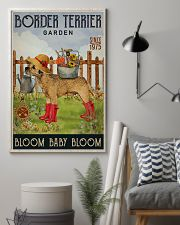 Gardening Bloom Baby Border Terrier 16x24 Poster lifestyle-poster-1