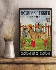 Gardening Bloom Baby Border Terrier 16x24 Poster lifestyle-poster-3