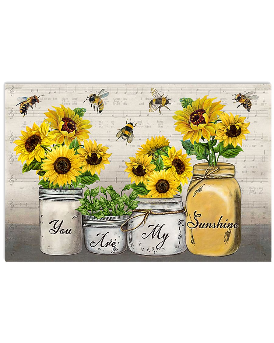 You Are My SunShine Music Sheet Bee 24x16 Poster
