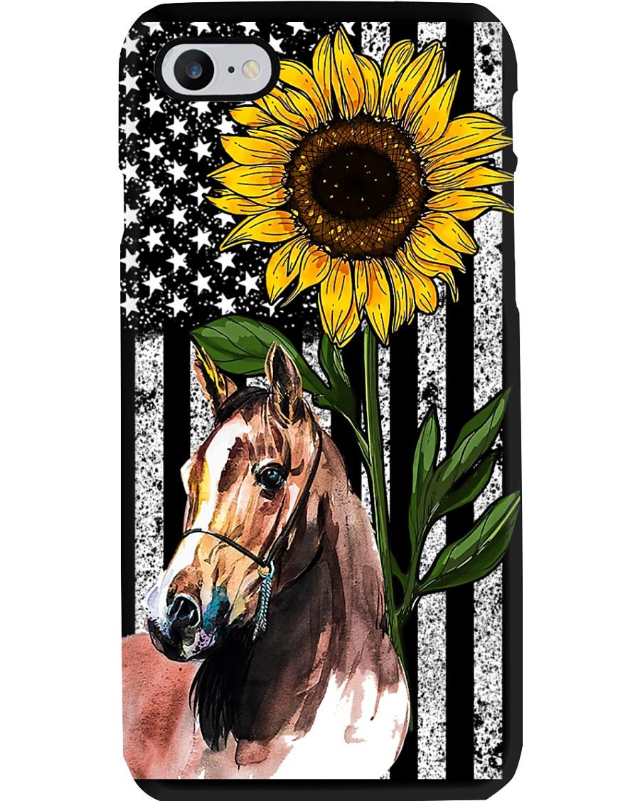 Sunflower Flag Horse Phone Case