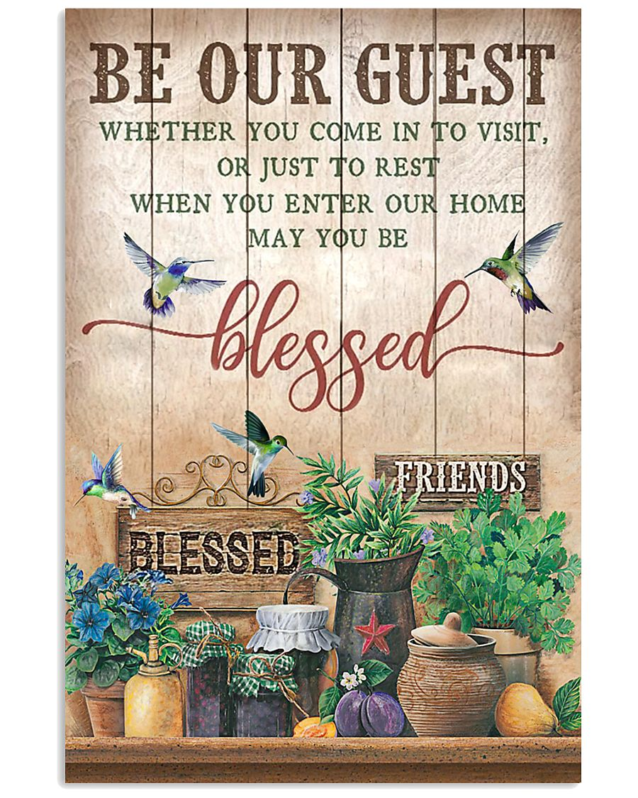 Pallet Hummingbird Be Our Guest 11x17 Poster
