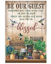 Pallet Hummingbird Be Our Guest 11x17 Poster front
