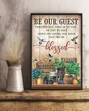 Pallet Hummingbird Be Our Guest 11x17 Poster lifestyle-poster-3
