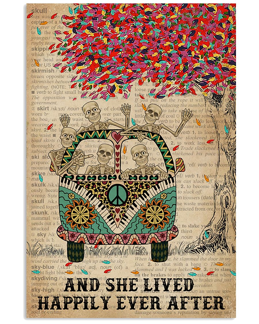 Dictionary And She Lived Happily Skeleton 11x17 Poster