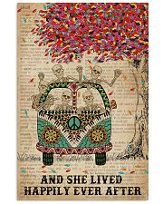 Dictionary And She Lived Happily Skeleton 11x17 Poster front