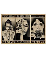 It's Not A Phase Camera Girl 24x16 Poster front