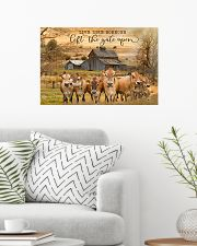 Jersey Cattle Let The Gate Open 24x16 Poster poster-landscape-24x16-lifestyle-01