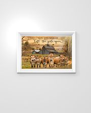 Jersey Cattle Let The Gate Open 24x16 Poster poster-landscape-24x16-lifestyle-02