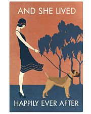 Vintage Girl Lived Happily Border Terrier 11x17 Poster front