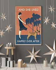 Vintage Girl Lived Happily Border Terrier 11x17 Poster lifestyle-holiday-poster-1