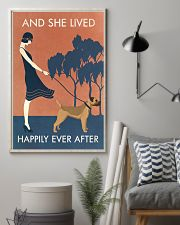Vintage Girl Lived Happily Border Terrier 11x17 Poster lifestyle-poster-1