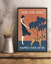 Vintage Girl Lived Happily Border Terrier 11x17 Poster lifestyle-poster-3