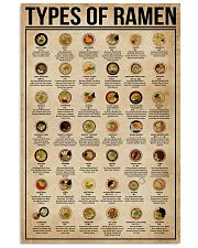 Types Of Ramen 11x17 Poster front