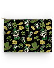 Pit Bull Clover And Coin St Patrick's Day Accessory Pouch - Large thumbnail