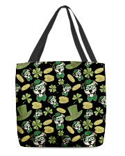 Pit Bull Clover And Coin St Patrick's Day All-over Tote thumbnail
