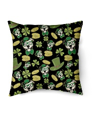 "Pit Bull Clover And Coin St Patrick's Day Indoor Pillow - 16"" x 16"" thumbnail"
