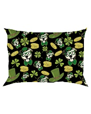 Pit Bull Clover And Coin St Patrick's Day Rectangular Pillowcase thumbnail