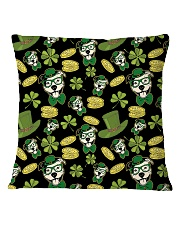 Pit Bull Clover And Coin St Patrick's Day Square Pillowcase thumbnail
