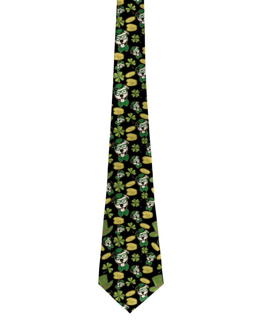 Pit Bull Clover And Coin St Patrick's Day Tie