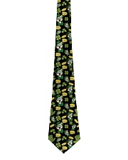Pit Bull Clover And Coin St Patrick's Day Tie front