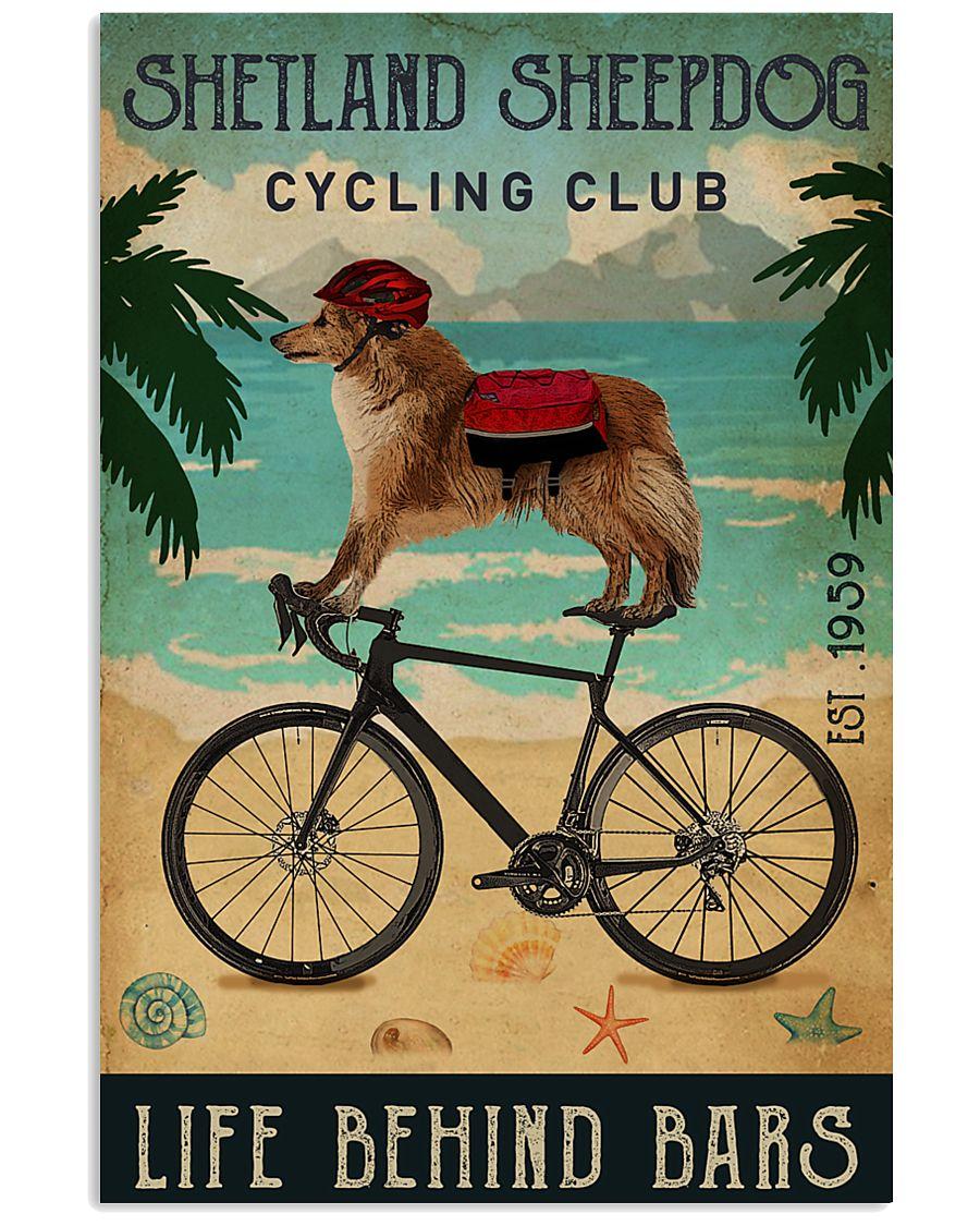 Cycling Club Shetland Sheepdog 11x17 Poster