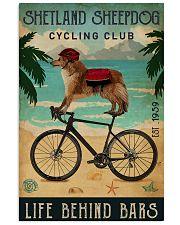 Cycling Club Shetland Sheepdog 11x17 Poster front